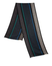 Paul Smith - Green Wool & Silk Blend Scarf for Men - Lyst