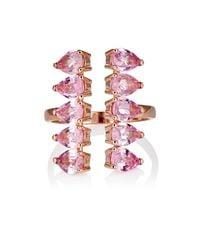 Ileana Makri - Pink Women's Deco Pear Column Cuff Ring - Lyst