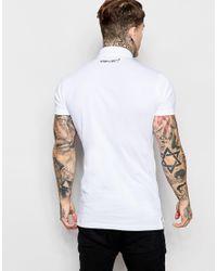 11 Degrees - White Polo T-shirt for Men - Lyst
