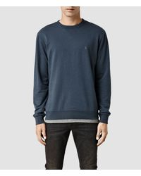 AllSaints - Blue Orian Crew Sweat for Men - Lyst