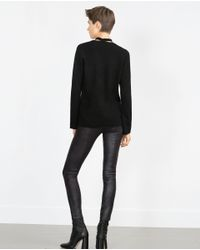 Zara | Black Skinny Trousers | Lyst