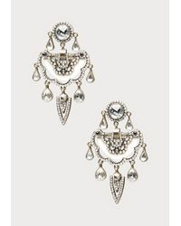 Bebe | White Crystal Drop Earrings | Lyst