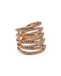 BaubleBar - Metallic Ice Twister Ring - Lyst