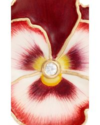 Alison Lou - Red Pansy Enamel Earrings - Lyst