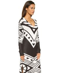 Free People | Patterned Bauhaus Knit Dress - Black/cream Combo | Lyst