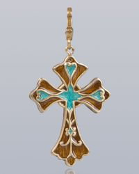 Jay Strongwater | Blue Maria Cross Pendant | Lyst