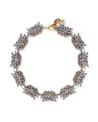 Lulu Frost | White 'larkspur' Multi Floral Crystal Station Necklace | Lyst