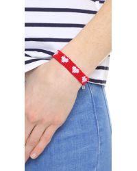 Marc Jacobs - Red Heart Macrame Bracelet - Lyst
