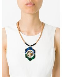 Marni | Blue Flower Pendant Necklace | Lyst