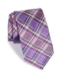 Michael Kors - Purple 'perfect' Plaid Silk Tie for Men - Lyst