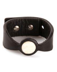 Rick Owens | Black Buffalo Bone Cuff for Men | Lyst