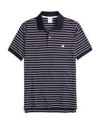 Brooks Brothers | Blue Golden Fleece® Slim Fit Performance Stripe Polo Shirt for Men | Lyst
