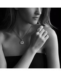 David Yurman - Red Albion Pendant With Diamonds, 14Mm Gemstone - Lyst