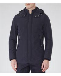 Reiss | Blue Monmouth Hooded Jacket for Men | Lyst