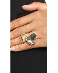 Alexis Bittar - Metallic Stacked Coktail Ring Blackgold - Lyst