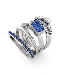 Vince Camuto - Blue Stackable Stone Rings - Lyst