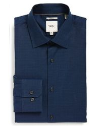 W.r.k. | Blue Extra Trim Fit Stretch Dobby Dress Shirt for Men | Lyst