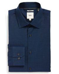W.r.k. - Blue Extra Trim Fit Stretch Dobby Dress Shirt for Men - Lyst