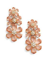 kate spade new york | Pink 'at First Blush' Drop Earrings | Lyst