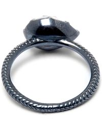 Larkspur & Hawk - Metallic Silver Bella Stacking Pear Ring - Lyst