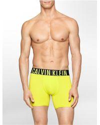Calvin Klein - Yellow Underwear Intense Power Micro Boxer Brief for Men - Lyst