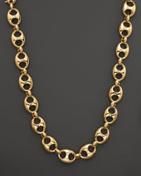 lyst gucci marina chain necklace in 18k yellow gold in metallic