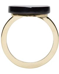 Isabel Marant | Metallic Gold And Black From The Block Ring | Lyst