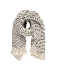 Forever 21 - Black Loose Knit Oblong Scarf - Lyst