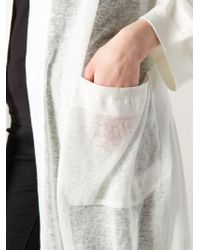 Il by Saori Komatsu | White Hooded Wrap Cardigan | Lyst