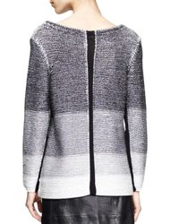 Helmut Lang - Black Plaited Degrade Knit Sweater - Lyst