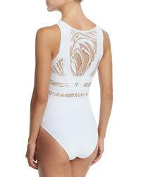 OYE Swimwear - White Elsa Lace & Lattice One-piece Swimsuit - Lyst