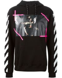 Off-White c/o Virgil Abloh - Black Photo Print Striped Sweatshirt for Men - Lyst