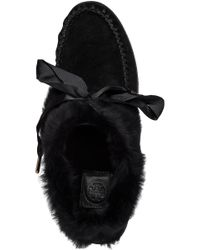 Tory Burch   Black Minnie Ballet Flat   Lyst