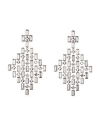 Swarovski | Metallic Silver-Tone Diamond-Shaped Earrings | Lyst