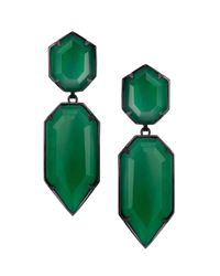 Kendra Scott | Green Perla Glass Drop Earrings | Lyst