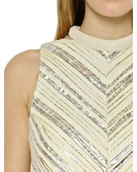 Proenza Schouler - Natural Pleated Crepe Cloque Top - Lyst