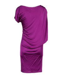 Roberto Cavalli - Purple Short Dress - Lyst