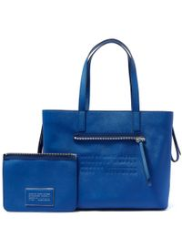 Marc By Marc Jacobs - Blue Zip It Saffiano Zipper Tote Bag - Lyst
