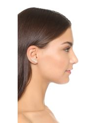 Sam Edelman - White Imitation Pearl Ear Crawlers - Pearl/gold - Lyst