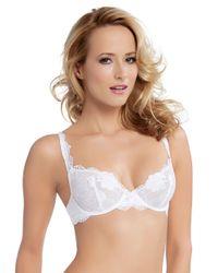Felina - White Monica Stretch Floral Lace Bra - Lyst