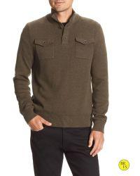 Banana Republic | Green Factory Double-pocket Mock-neck Pullover for Men | Lyst
