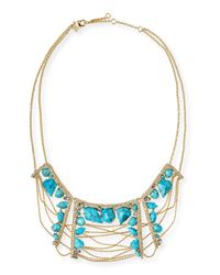 Alexis Bittar - Blue Howlite Draping-Chain Bib Necklace - Lyst