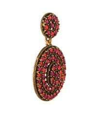 Oscar de la Renta | Pink Pavã© Disc Clip-on Earrings | Lyst