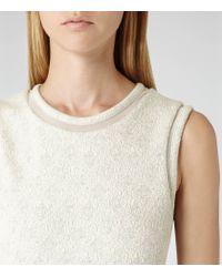 Reiss - White 1971 Amari Metallic Detail Dress - Lyst
