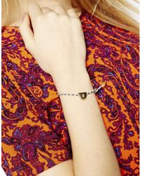 ASOS - Metallic S Friendship Bracelet - Lyst