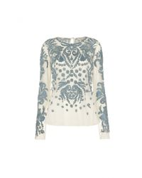 Temperley London - Blue Peony Long Sleeve Top - Lyst