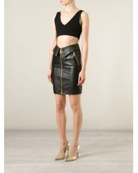 Moschino - Black Biker Skirt - Lyst