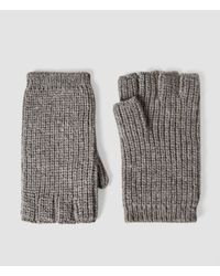 AllSaints - Gray Spinn Gloves for Men - Lyst