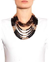 Rosantica By Michela Panero - Black Raissa Quartz & Gold-Plated Necklace - Lyst