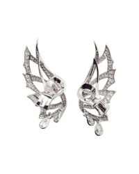 Stephen Webster - Metallic Magnipheasant Diamond Wing Earrings - Lyst